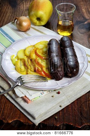 French Cuisine: Black Pudding With Apples And Calvados