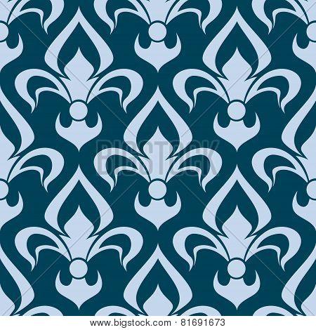 Arabesque seamless pattern with a fleur de lys