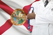 Concept of national healthcare system - Florida poster