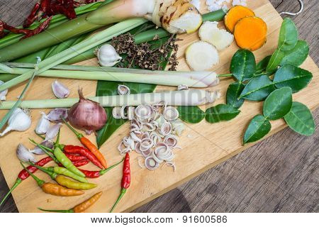 Ingredients Thai Food : TUM-YAM