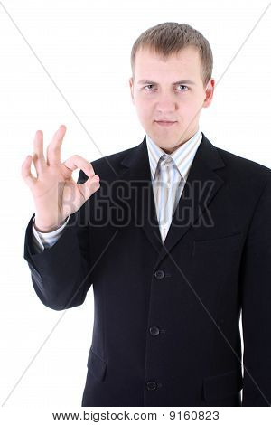 Businessman Doing An Ok Sign