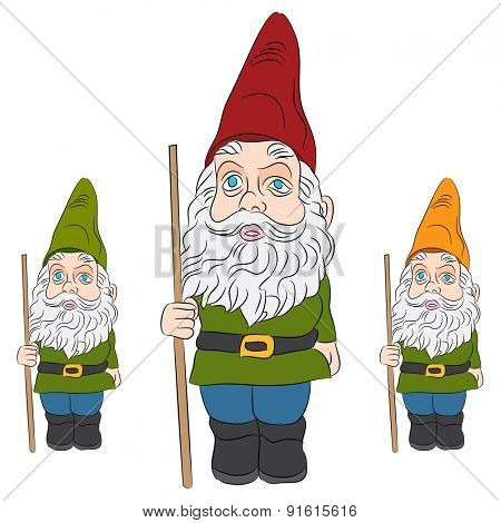 An image of a set of lawn gnomes.