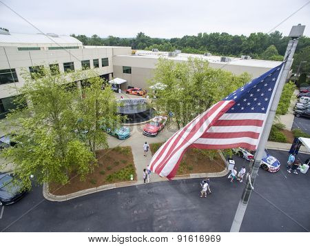 Concord, NC - May 21, 2015: Roush Fenway Racing opens up their shops to fans at the Roush Fenway Racing Headquarters in Concord, NC.