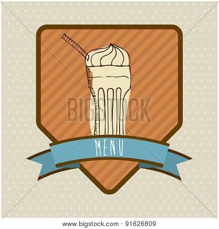 Foodstuff design over beige background vector illustration
