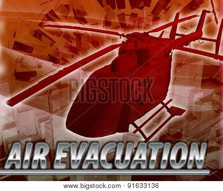 Abstract background digital collage concept illustration helicopter air evacuation