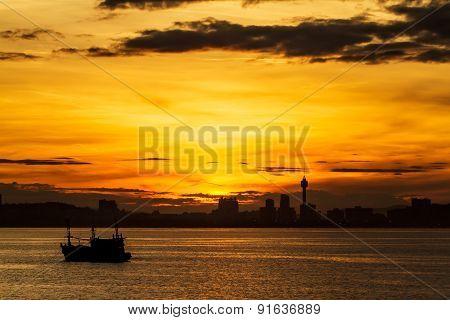 Sunrise on Koh Larn Pattaya Chonburi Thailand