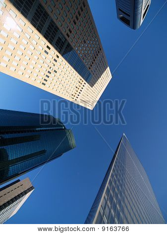 Shiodome's distric, skyscraper Centre in Tokyo Japan poster