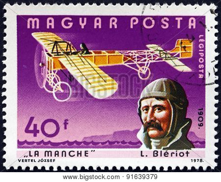Postage Stamp Hungary 1978 Louis Bleriot, French Aviator