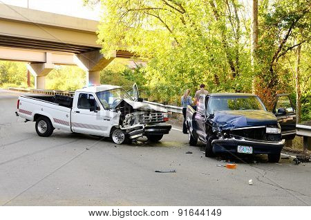 Two Truck Wreck