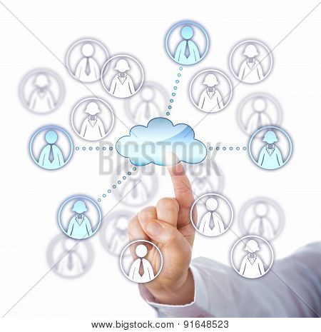 Contacting Four Work Team Members Via The Cloud