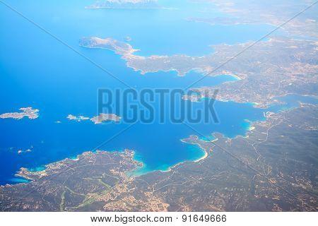 Costa Smeralda Shoreline Seen From Above