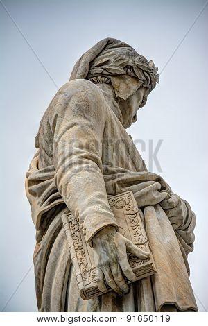 Dante Alighieri Statue In Santa Croce Square