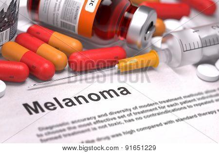Melanoma Diagnosis. Medical Concept.