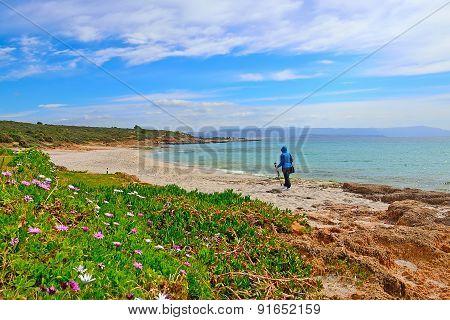 Photographer In Le Bombarde Beach