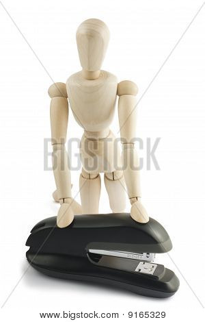 Manequin With Stapler