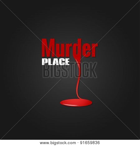 murder blood design vector background 10 eps poster