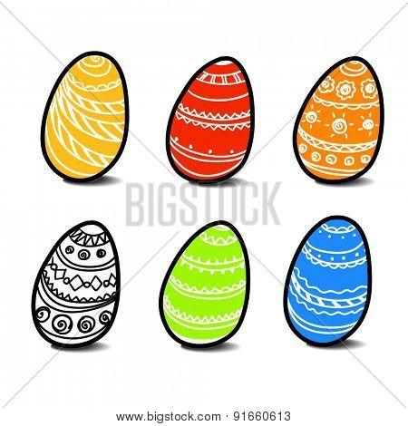 Eastereggs. Raster version