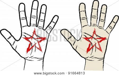 Pentagram and Hand