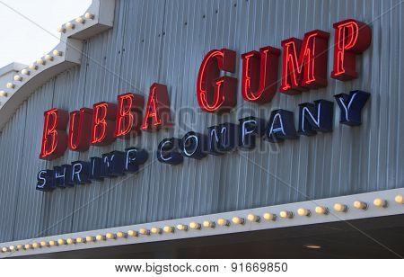 Bubba Gump Shrimp Company Entrance Sign