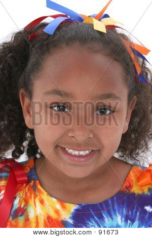 Close Up Beautiful Six Year Old Girl