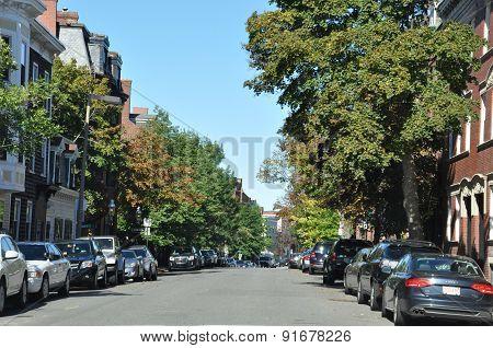 Streets of Boston in Massachusetts