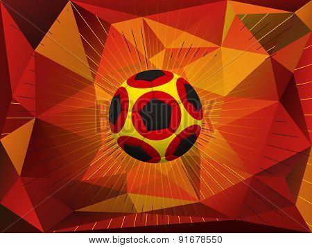 Germany Soccer Ball Background
