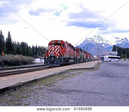 Mail train, Banff.