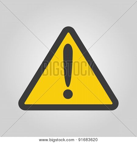 The attention icon. Danger symbol. Flat Vector illustration poster