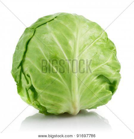 Fresh cabbage ripe vegetable. Isolated on white background
