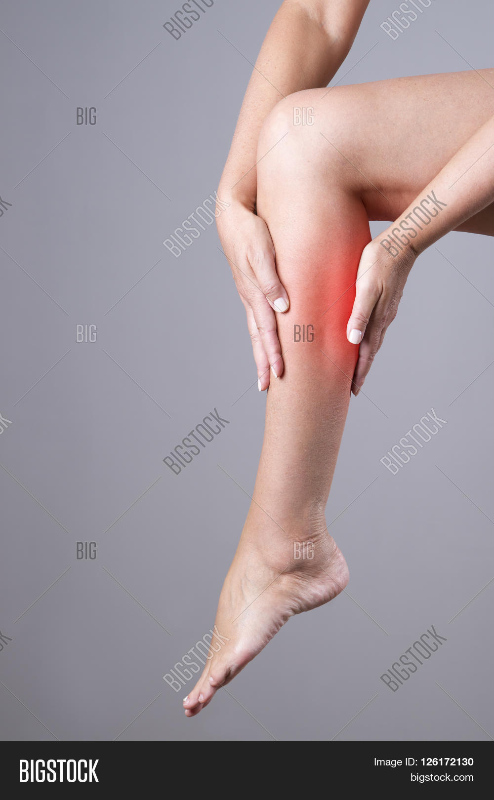 pain calf muscle woman image photo free trial bigstock