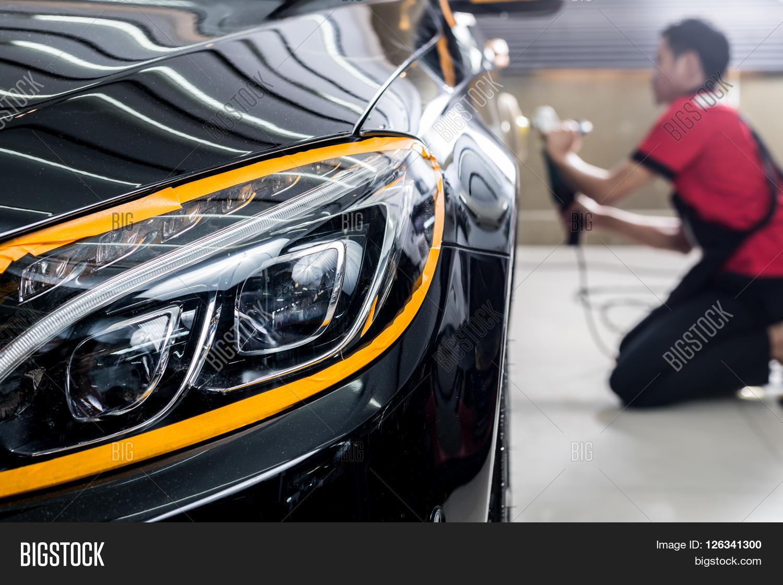 Car Detailing Series Polishing Image Amp Photo Bigstock