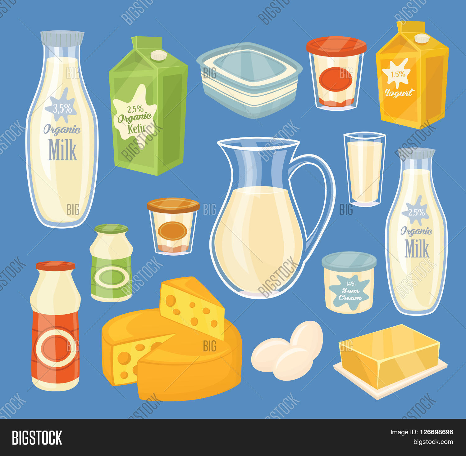 Dairy Products Image & Photo (Free Trial) | Bigstock