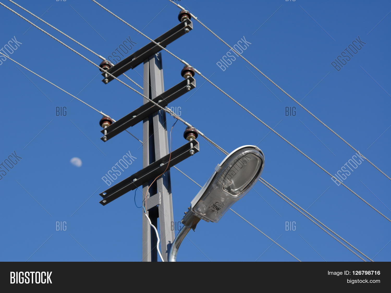 Amazing Electricity Pole Lamp Image Photo Free Trial Bigstock Wiring 101 Hateforg