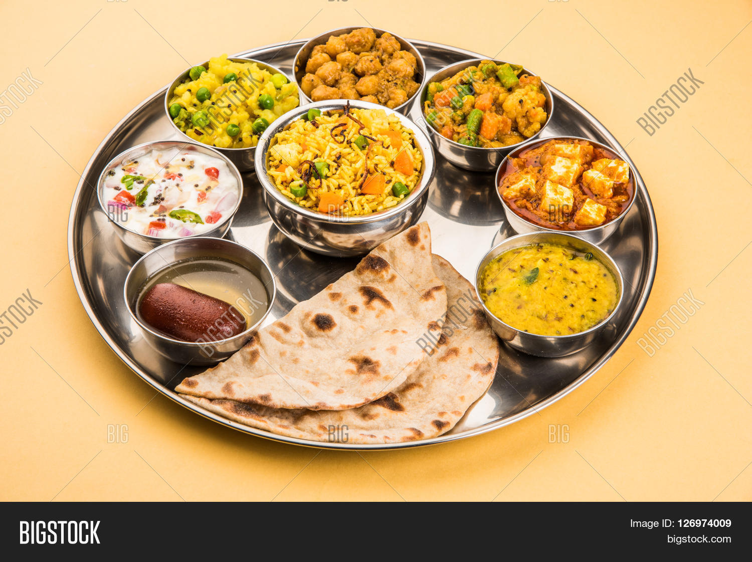 Group Indian Food Image Photo Free Trial Bigstock