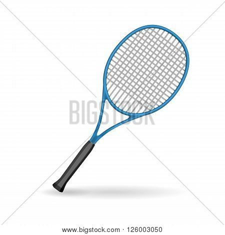 Racket tennis, sport racket. Tennis racket isolated on white background.