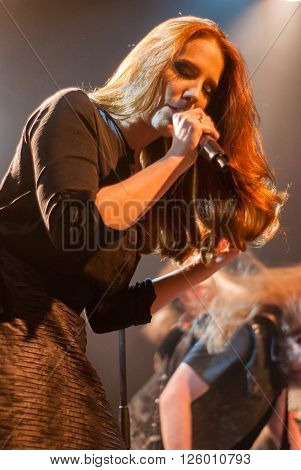BRISBANE, AUSTRALIA - MARCH 18 2016: Epica live at Max Watts in Brisbane