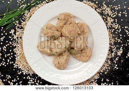 Buckwheat Dumpling On The Plate