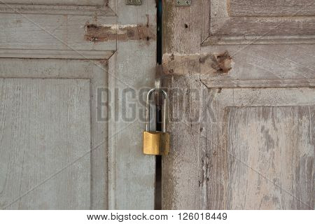 The master key on the old door background