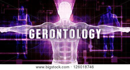 Gerontology as a Digital Technology Medical Concept Art