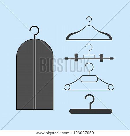 Clothes Hanger icon. Dress Hanger. Vector illustration