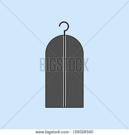 Wardrobe Costume Trunk. Clothes Hanger icon. Dress Hanger. Vector illustration