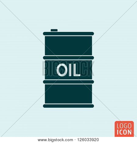 Barrel oil icon. Barrel oil symbol. Vector illustration
