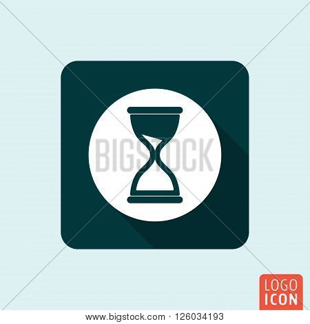 Hourglass icon. Sand timer symbol. Vector illustration