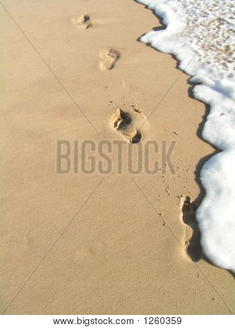 Footprint In The Water