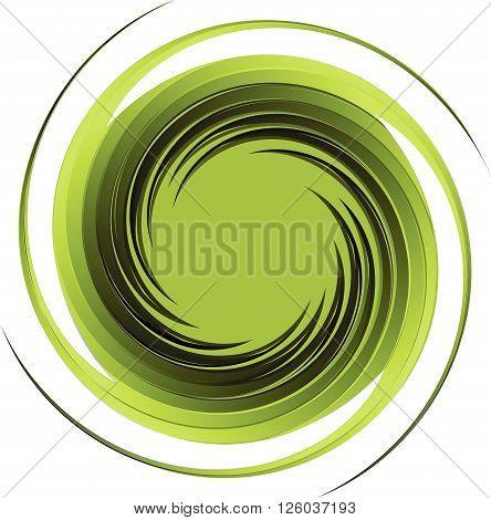 Vortex background green vector.Swirl abstract isolate illustration.