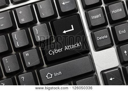 Conceptual Keyboard - Cyber Attack (black Key)