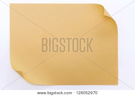 Brown Paper With Rolled Edge