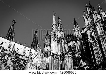Cologne Cathedral On Blue Sky