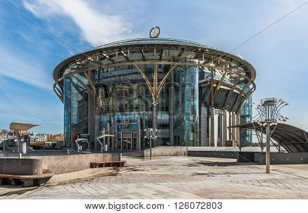Moscow Russia - April 17 2016: Moscow international House of Music.