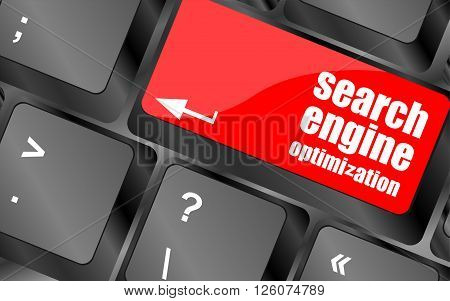 Modern Keyboard With Seo Text. Seo Concept